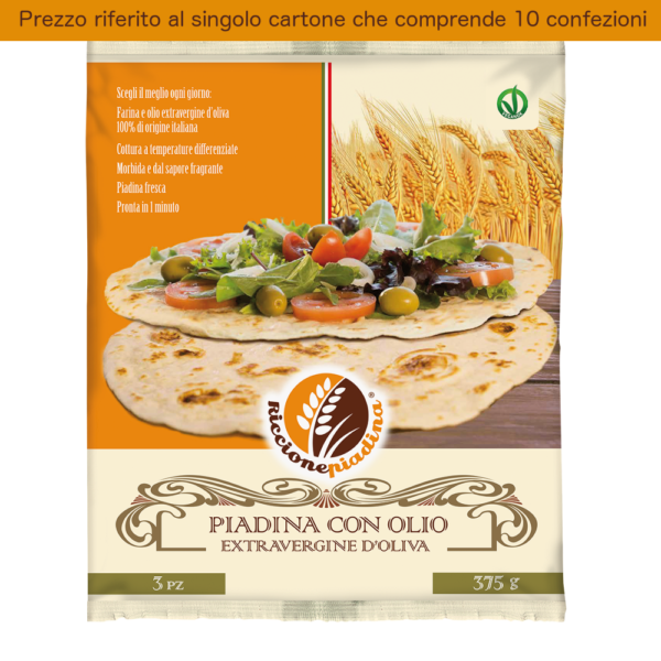 Confezione Piadina all'olio extravergine d'oliva