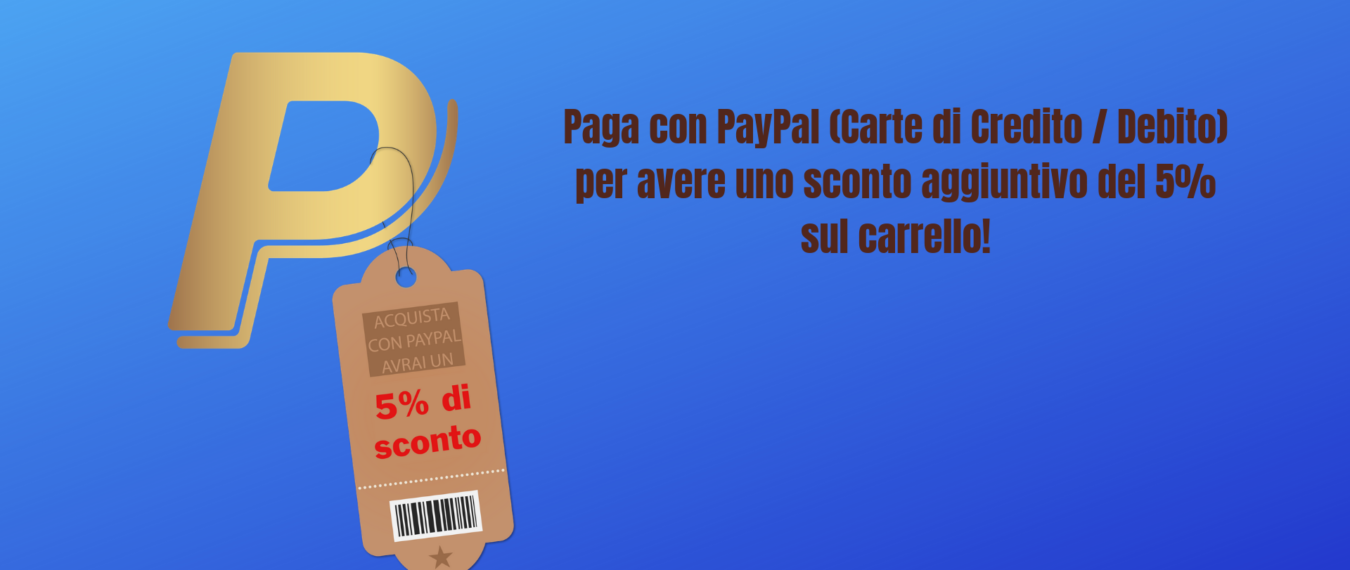 Sconto del 5% con PayPal