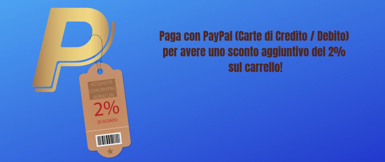 Sconto del 2% con PayPal